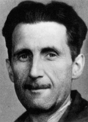 Orwell (aka Eric Blair) from the photo on his press pass (NUJ/Wikimedia Commons)